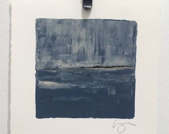 Small Acrylic Painting on Paper