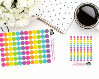 Planner Stickers|Dot Stickers|Blank Dot Stickers|Color Coding Stickers|For use in various paper planners and journals|I007 and I007-M