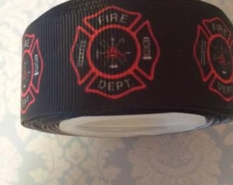 Firefighter 1 inch grosgrain ribbon