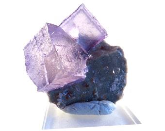 SALE Fluorite Purple Elmwood on Matrix Cubes