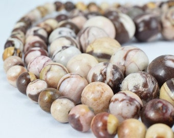 Natural Zebra Jasper Stone Beads, Gemstone Round Beads 6mm,8mm,10mm,12mm Natural Stones Beads healing stone chakra stones for Jewelry Making