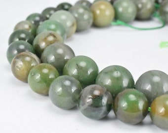 Natural African Green Agate Gemstone Beads Gemstone Round Beads 10mm,12mm Natural Stones Beads Healing chakra stones Jewelry Making