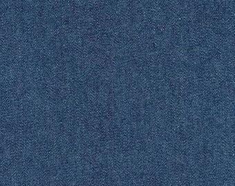 Indigo Denim 8 Oz Light Wash from Robert Kaufman - 1/2 Yard - Art Gallery Fabric