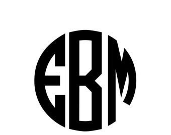 Circular Monogram/Semi-permanent vinyl