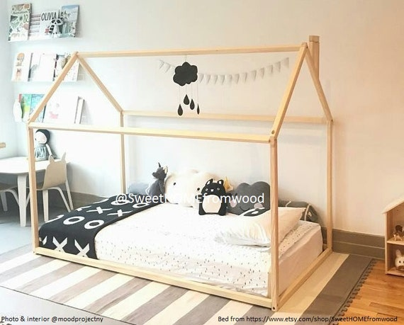 Children Bed TWIN Size Wood House Bed By SweetHOMEfromwood