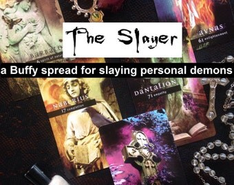 The Slayer: A 5 Card Tarot/Oracle Reading to Slay Your Personal Demons (Buffy the Vampire Slayer, Shadow Work)