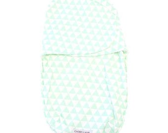 Mint Triangle Swaddle Wrap | Mint & White Baby Swaddle