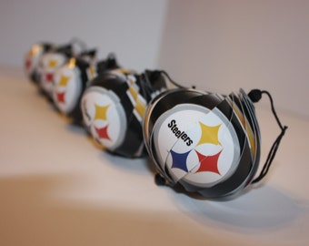 Pittsburgh Steelers NFL Ornaments : Single or Set of 5