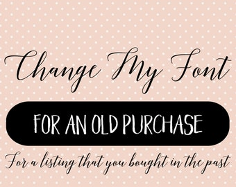 Add on -change my font / name - color change