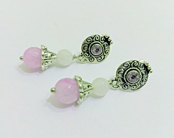 Nail Earrings, pink fuchsia earrings