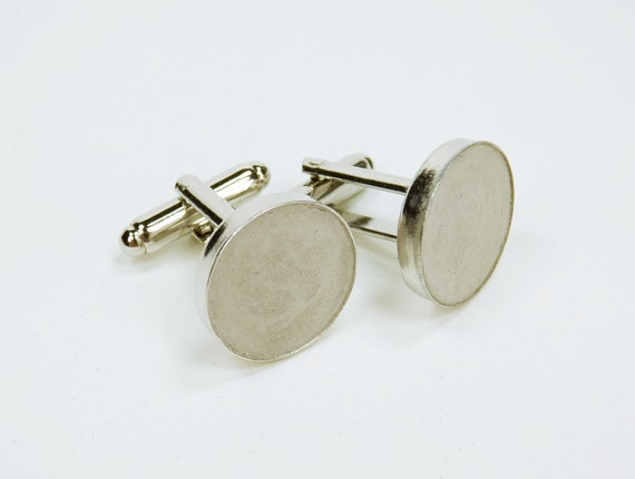 Cuff buttons round silver with concrete wedding jewelry mens men jewelry Grey cuff button concrete jewelry
