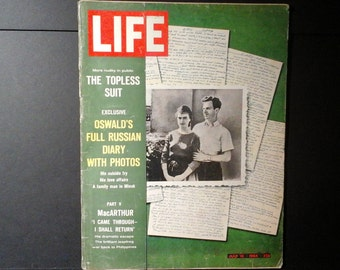 Life Magazine, July 10, 1964, Lee Harvey Oswald's Full Russian Diary with Photos