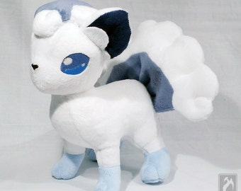 Alola Vulpix - Cute Pokemon Themed Plushie - Original Handmade Pokemon Fanart Plush *Made to Order *