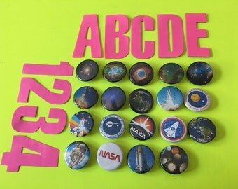 PINBACK BUTTONS! Space edition! hubble images nebula nebulae rocket nasa space planet solar system galaxy astronaut earth saturn mars venus