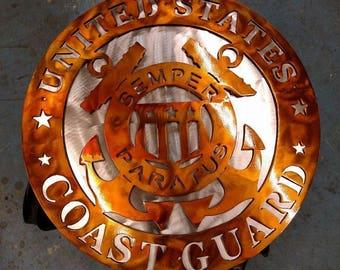"""18"""" US Coast Guard dual layered Insignia"""