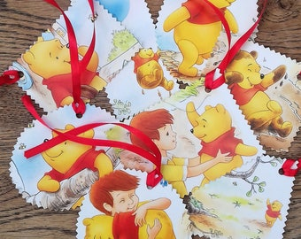 Winnie the Pooh gift tags, Pooh gift tags, Winnie the Pooh birthday, Winnie the Pooh christening, Winnie the Pooh, Disney gift tags.