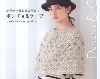Ebook Asahi Original Poncho and Cape Crochet poncho Crochet cape Poncho pattern pdf file