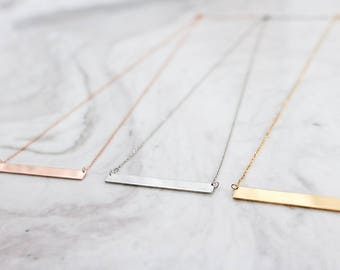 STERLING SILVER BAR necklace, Dainty Necklace, everyday Necklace, Trendy necklace, Sterling Silver, Minimalist Jewelry
