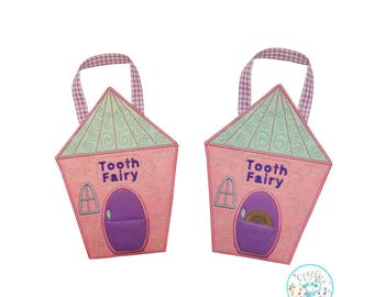 ITH Tooth Fairy Hanging Sign Embroidery Machine Pattern, Tooth fairy sign pattern, Tooth Fairy pocket, Tooth fairy bag, Fairy house