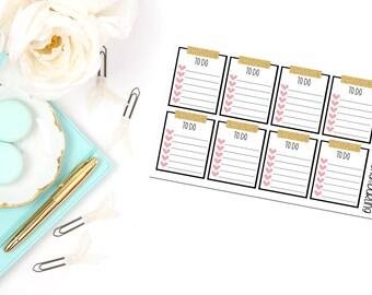 Washi Checklist Planner Stickers