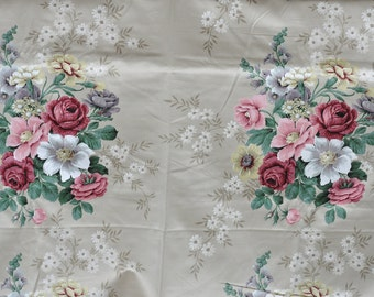 Vintage Sanderson Cookham fabric 1950s/60s Heavy cotton 2.2m