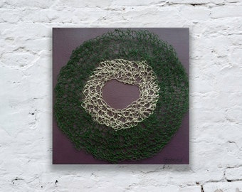Wire Circle, Crochet Art