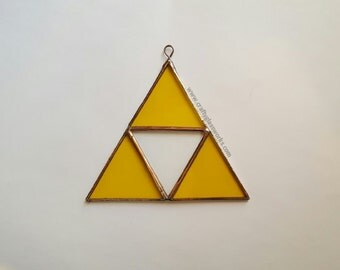 Zelda Triforce Stained Glass Suncatcher - Wall Decoration