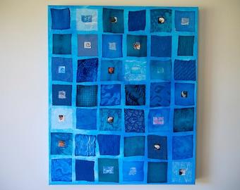 Blue Abstract, Original Art, Large Wall art, Turquoise Art, Mixed media, Ocean Art, Original Art, Beach House Decor, Blue Decor, Art Sale