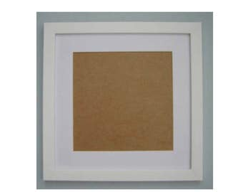12 x 12 inches White picture frame , complete