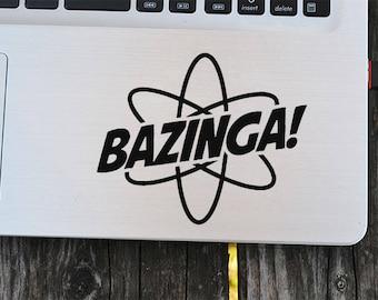 Bazinga Decal Sticker,Bazinga Sticker,The Big Bang Theory,laptop decal, vinyl decals, macbook decal, wall sticker, car decal