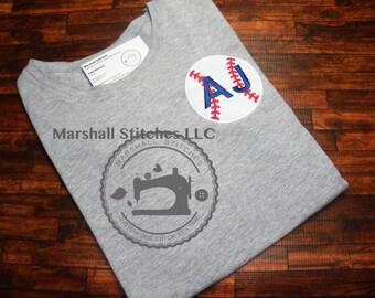 Boy's Personalized Baseball Applique Shirt/ Boy's Baseball Applique shirt/ Boy's birthday Baseball Shirt
