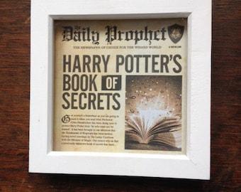 Framed Harry Potter picture on newspaper background