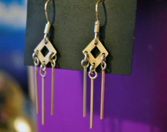 Handmade, hook, 925 sterling silver earrings!