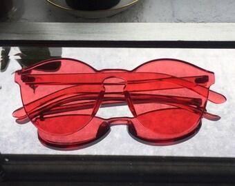 Spectrum Fashion Sunglasses - Red
