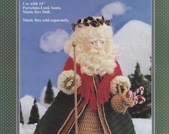Kris Kringle, Fibre Craft Crochet Christmas Santa Claus Doll Clothes Pattern Booklet FCM301