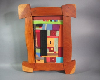 Small Art Quilt in Cherry Frame by pam beal and wayne walma