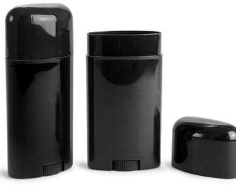 Plastic Tubes, 2.65 oz Polypro Deodorant Tubes w/ Caps