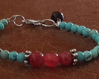 Amberlin Turquoise Tigers Eye Bracelet