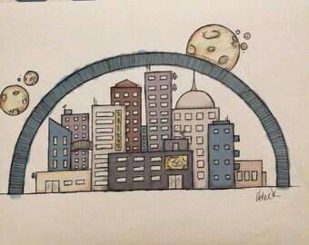 Drawing: Skyline