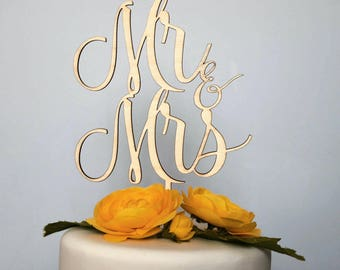 Mr and Mrs, Mr and Mr, Mrs and Mrs cake topper