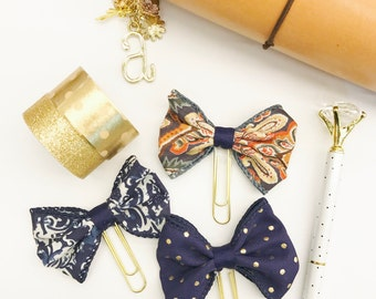Navy Blue Bow Planner Clip