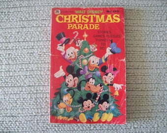 Walt Disney Christmas Parade Stories, Games, Puzzles, Things To Do 1977.