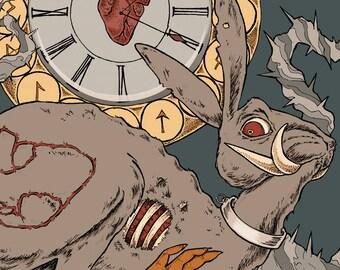Art Print Alice in Wonderland: Rabbit