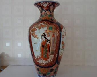 Large chinese hand finished and gilded vase