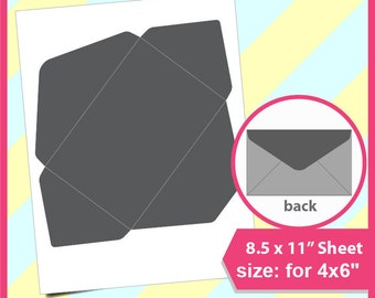 8 5 x 11 envelope template - 6x4 envelopes etsy