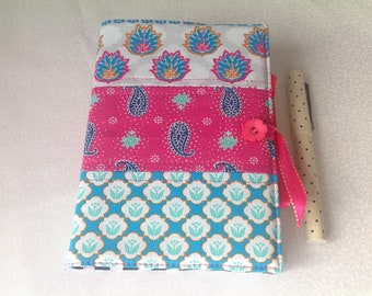 Handcrafted fabric covered notebook / journal