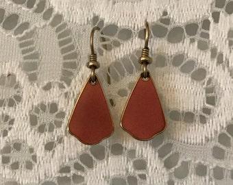 Laurel Burch Brown Gold Tone Dangle Earrings