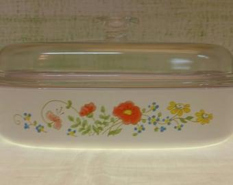 Vintage Wildflower Casserole Dish - Vintage Corningware Wildflower Casserole Dish - Vintage Pyrex Wildflower Casserole Dish