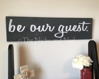 Be Our Guest Sign, Guest Room Decor, Home Decor, Rustic Home Decor, Guest Room Sign, Wood Sgins