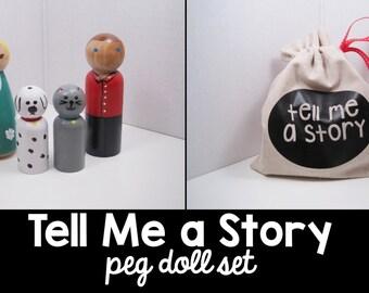 Tell me a Story Peg Doll Set